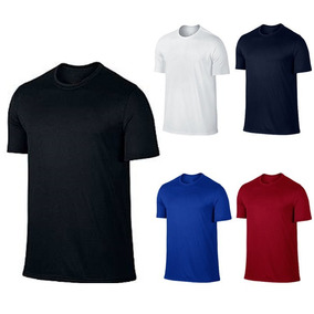 38f2bb4e0d Camiseta Dry Fit Lisa - Camisetas Masculino Manga Curta no Mercado Livre  Brasil