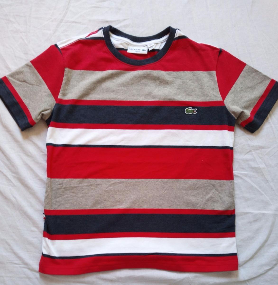 9f0cef84bbdae kit 5 camisetas lacoste listradas. Carregando zoom.