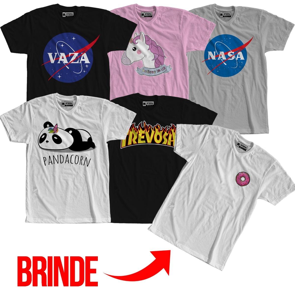 c9cc40ac08 kit 5 camisetas moda tumblr + tshirt brinde roupas femininas. Carregando  zoom.