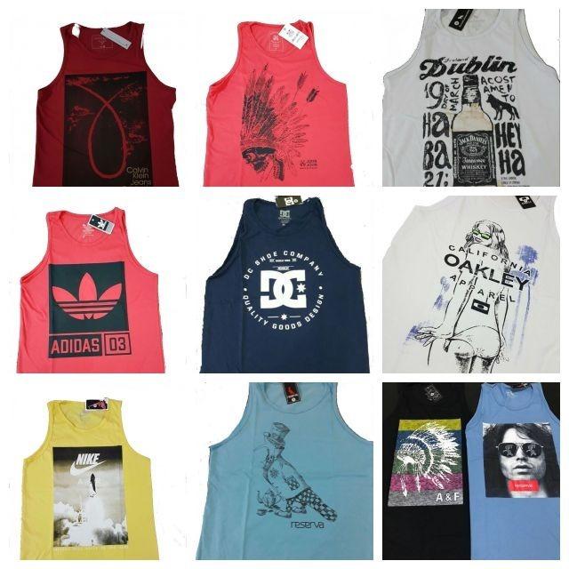 Kit 5 Camisetas Regatas Masculinas Atacado Promoção Baratas - R  99 ... f92b760dadf