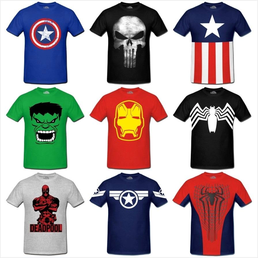 kit 5 camisetas super herois - frete grátis - vários modelos. Carregando  zoom. 474bceac2912d