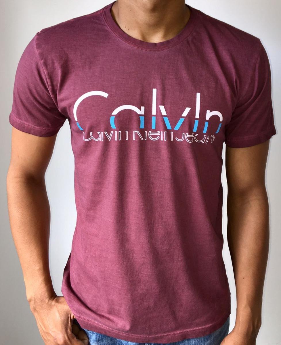 7a452014b728 Kit 5 Camisetas T- Shirt Calvin Klein 100% Original - R$ 350,00 em ...