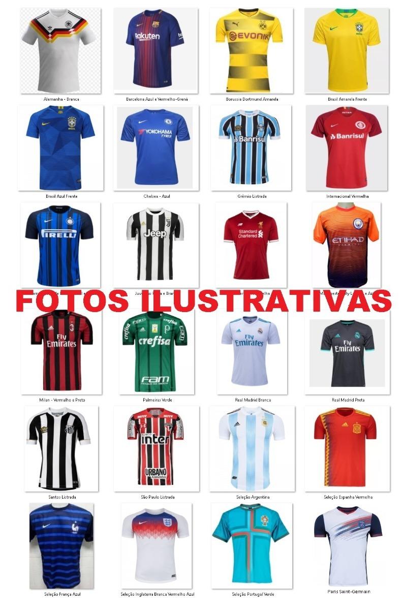 c2f5ab6bec251 kit 5 camisetas times nacional europeu futebol manga curta. Carregando zoom.