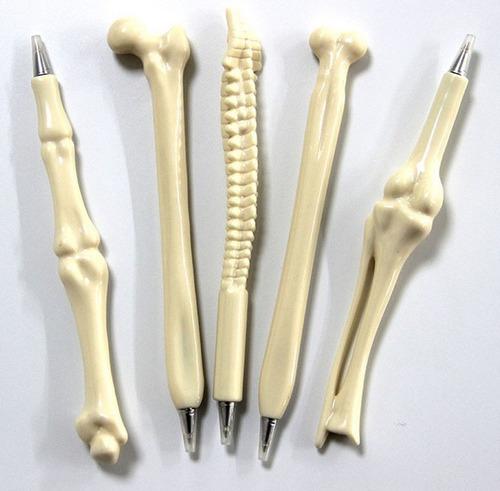 kit 5 canetas osso. um de cada tipo!