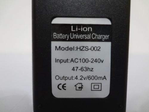 kit 5 carregador duplo bateria lanterna 18650 3,7v e 4,2v