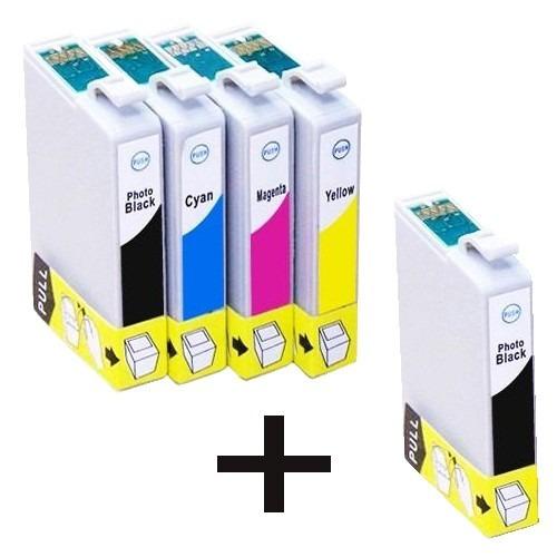 kit 5 cartuchos impressora  tx125 t25 tx123 tx135 tx133