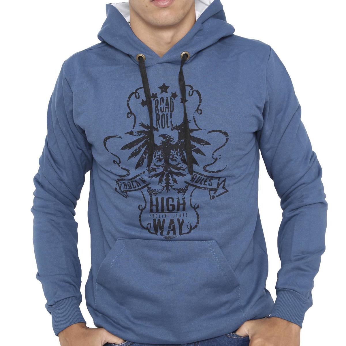 ae949e5df kit 5 casacos blusa moletom slim canguru masculino unissex. Carregando zoom.