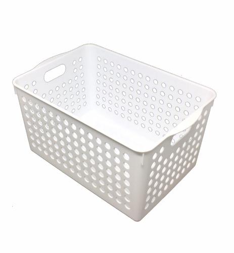 kit 5 cesta organizadora alta multifuncional com alça 7 l