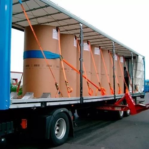 kit 5 cinta gancho j 3 toneladas 9 metros amarração carga