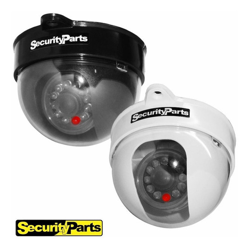 kit 5 câmeras dome infravermelho falsa com led bivolt