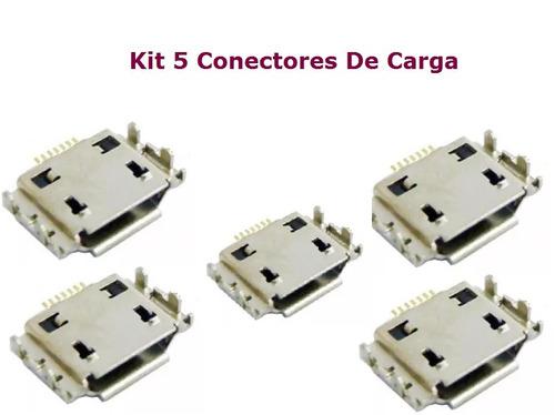 kit 5 conectores carga samsung gt-s5830c galaxy ace
