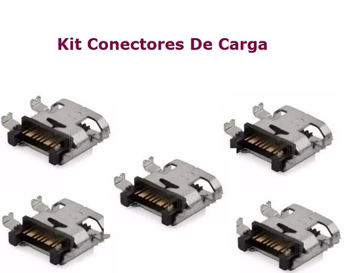 kit 5 conectores carga samsung gt-s6293 galaxy young plus t