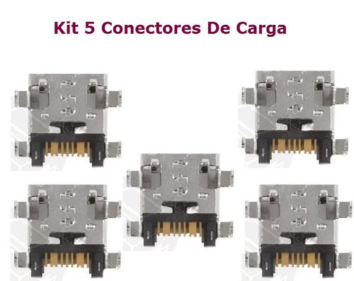 kit 5 conectores carga sistemas dock usb galaxy pocket g110