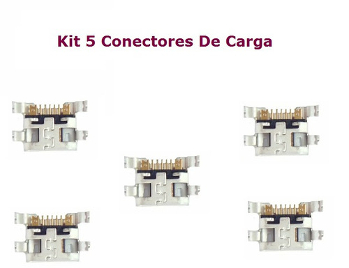 kit 5 conectores de carga p/celular lg d325 d340 l70 dual