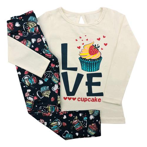 kit 5 conjunto feminino roupa infantil menina inverno