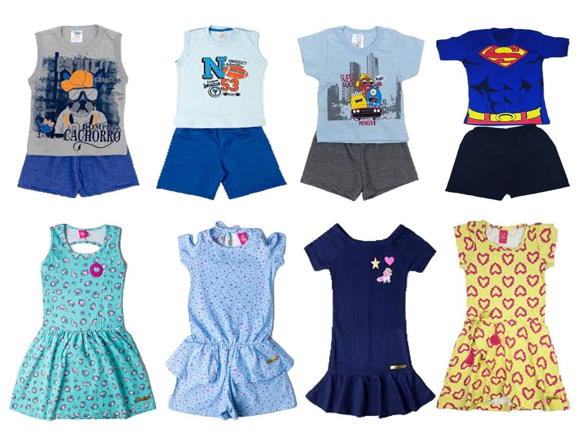 5a39590c89 Kit 5 Conjunto Infantil Menina Criança 1 2 3 4 5 6 7 8 Anos - R  124 ...