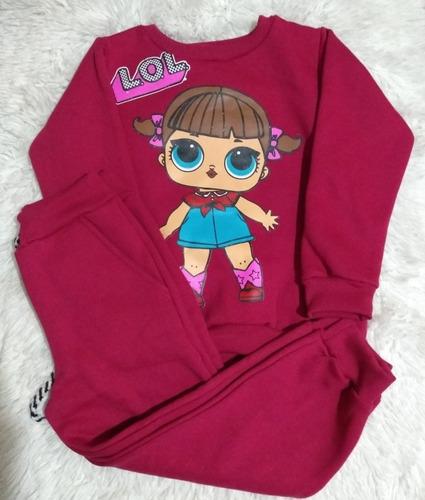 kit 5 conjuntos inverno moletom infantil menina