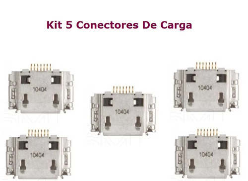 kit 5 dock conector de carga microusb p/ samsung gt-i9220