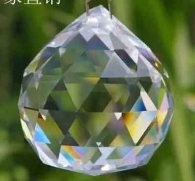 018652ce420 Kit 5 Esfera Bola Cristal Multifacetada Feng Shui 4cm Linda - R  150 ...