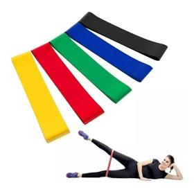 Kit 5 Faixas Elástico Pilates Em Latex Exercícios Em Casa