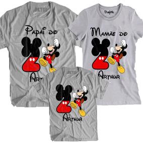 9120e83a5f98 Kit Camiseta Mickey Vermelho no Mercado Livre Brasil