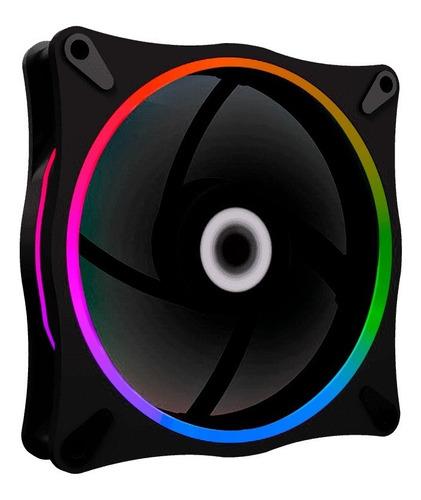 kit 5 fan argb+cont remoto gmx-12rainbow-db gamemax force515