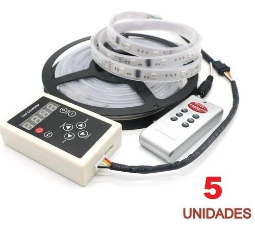 kit 5 fita de led digital com sistema de micro chip, atacado