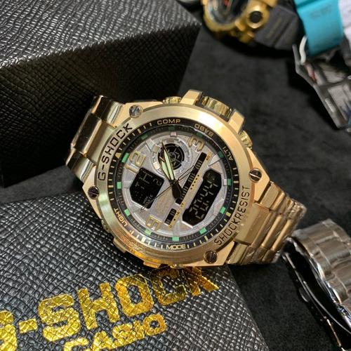 kit 5 g-shock pulseira de aço sem caixa