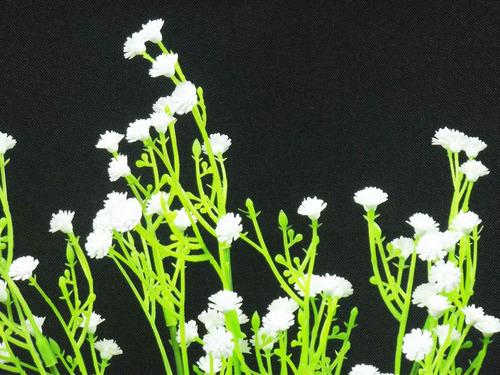 kit 5 galhos flor mosquitinho artificial branco - decoração