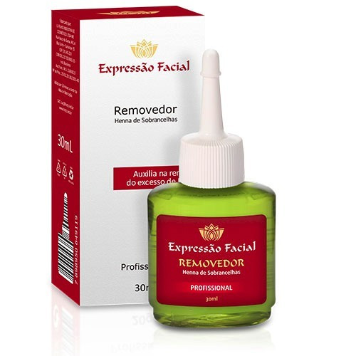 kit 5 henna 2,5g expressão facial escolha a cor+1 removedor