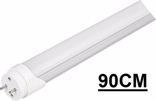 kit 5 lampada led tubular t8 tubo 90cm 14w branco frio 6000k