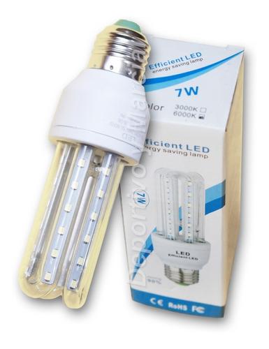 kit 5 lamparas tubos variadas led 5 + 7 + 9 + 12 + 16w leds