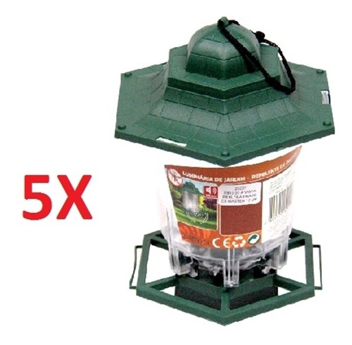 kit 5 lanterna lampião silencioso repelente contra insetos i
