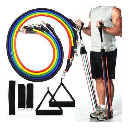 kit 5 ligas resistencia entrenamiento bandas crossfit gym