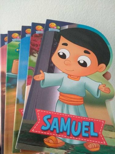 kit 5 livros cartonados - pequenos heróis da fé