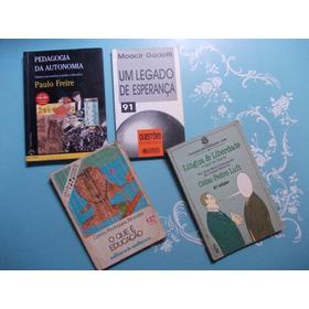 Kit 5 Livros. Pedagogia..um Legado..educação...língua E Libe