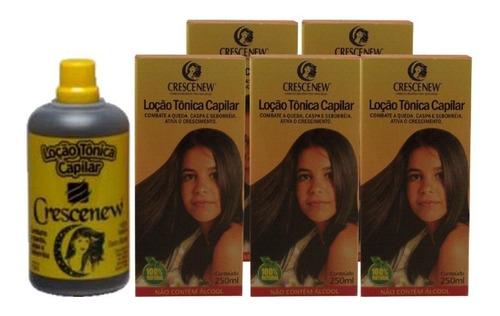 kit 5 loção capilar anti-queda tonico crescimento de cabelo