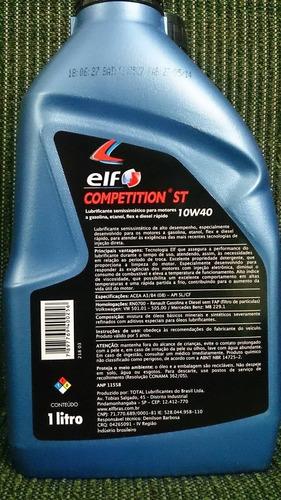 kit 5 lts óleo 10w40 elf competition renault vw mb peugeot