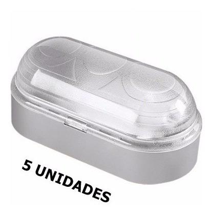 kit 5 luminárias arandela tartaruga p/ parede externa