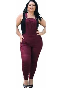 bc5e13408 Macacao Bengaline Plus Size - Macacão Feminino com o Melhores Preços no  Mercado Livre Brasil