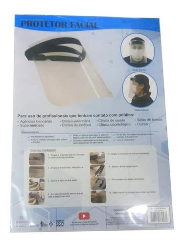 kit 5 máscara facial protetora anti-cuspir respingos medico