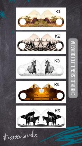 kit 5 máscaras mavolle brk cavalos
