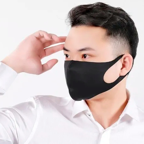 kit 5 máscaras ninjas anti poeira lavável coloridas atacado