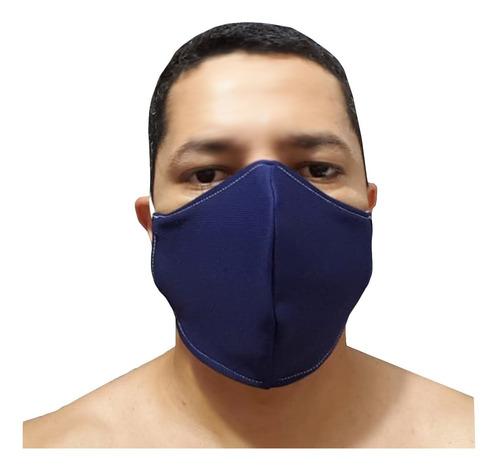 kit 5 mascaras tecido proteção lavável bico de pato unissex