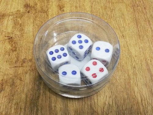 kit 5 mini dados 14x14mm, jogos tabuleiros, rpg, enfeite