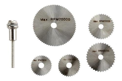 kit 5 mini discos sierra para mototool dremel 3mm (1/8)