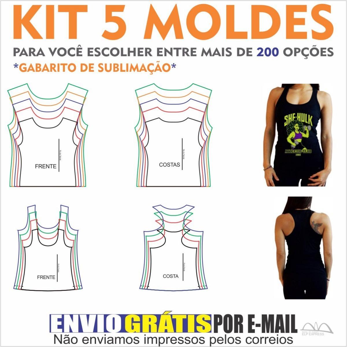 Kit 5 Moldes De Roupas A Sua Escolha. Camisas 31f0991cc0c71