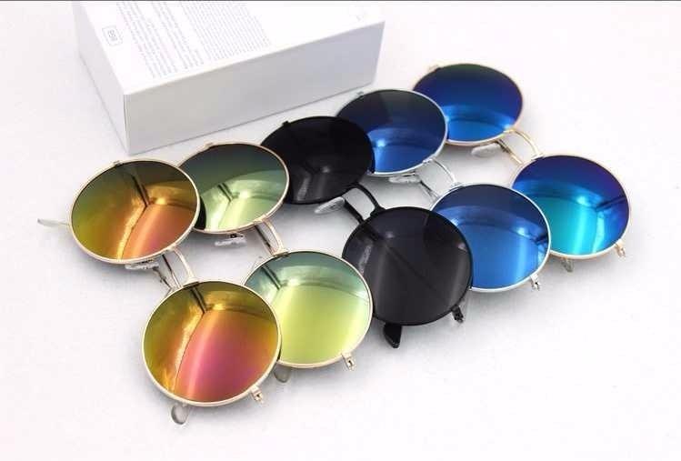 Kit 5 Óculos De Sol Redondo Masculino - Feminino- 5 Unidades - R ... 5d602170af
