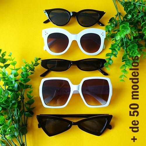 f0618588e3caf Kit 5 Oculos Feminino Moda Tumblr Atacado Blogueiras Barato - R  125 ...