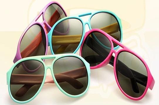 570fa1baa1187 Kit 5 Óculos Sol Infantil Redondo Colorido Preto Atacado - R  50,00 ...